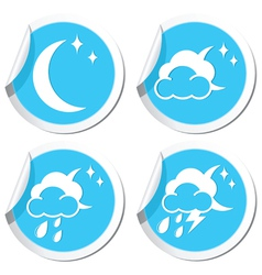 Moon icons set vector