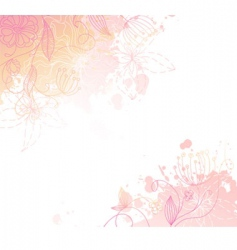 Floral back splash pink vector
