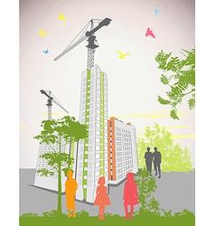 High rise buildings vector