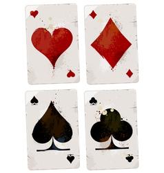 Poker cards set vector
