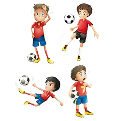 A team of soccer players vector