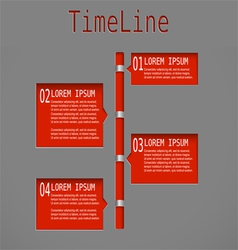 Time line red diagram vector
