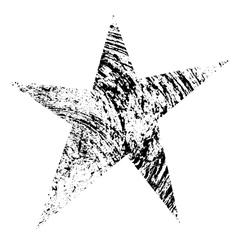 Grunge star original vector