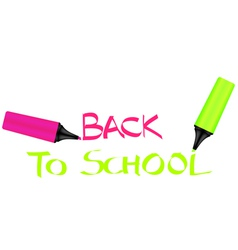 Back to school sign vector
