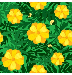 Flower seamless yellow vector