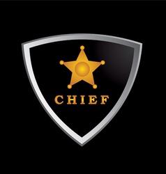 Chief badge vector