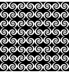 Design seamless monochrome spiral pattern vector