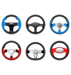 Steering wheels vector