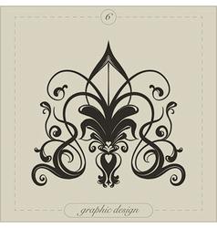 Graphic element flourish vector
