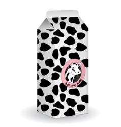 Milk box vector