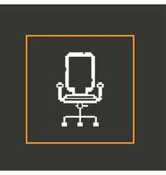 Simple stylish pixel icon chair design vector