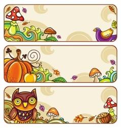 Autumn banners part 4 vector