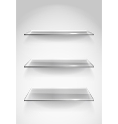 Display shelves vector