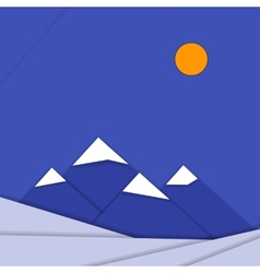 Material design landscape background with vector