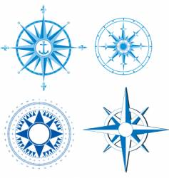 Wind rose nautical compass vector