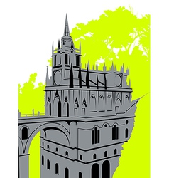 Grey castle vector