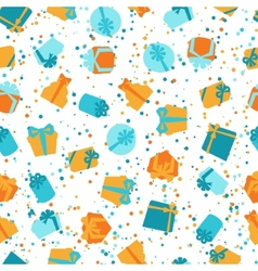 Seamless celebration pattern with colorful gift vector
