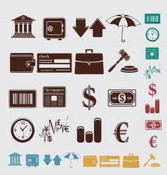 Finance set vector