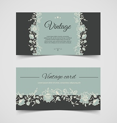 Vintage background cards vector