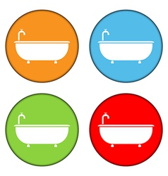 Bathtub icons set vector