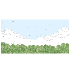 Sky clouds landscape vector