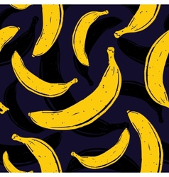 Pop art banana seamless pattern vector