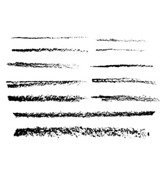 The charcoal brushes vector