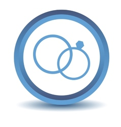 Blue marriage icon vector