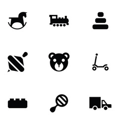 Toys icons 9 icons set vector