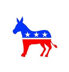 Donkey mascot american flag vector