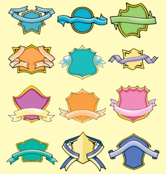 Cartoon comical badges vector