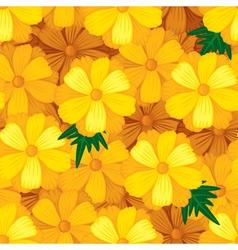 Flower seamless orange vector