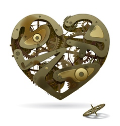 Clockwork heart vector