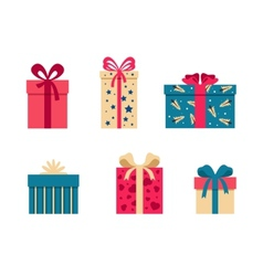 Set of colorful gift box symbols vector