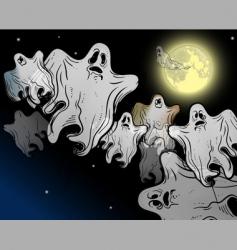 Halloween ghosts vector