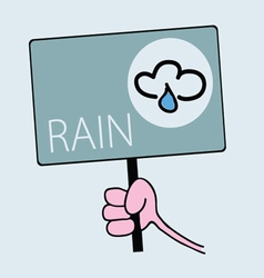 Panel for rainy weather vector