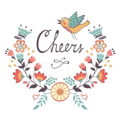 Cheers concept card vector