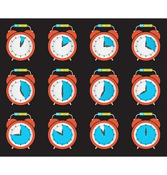 Alarm clock - time countdown set vector