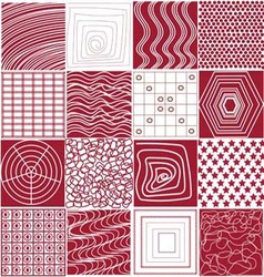 The red and white geometric pattern vector