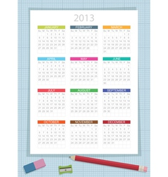 Calender for 2013 vector