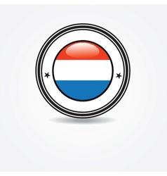 Netherlands flag in rubber stamp vector