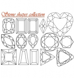Stone shapes collection vector