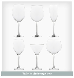 Set glass wine vector