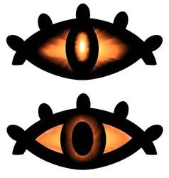 Pagan symbol eyes vector