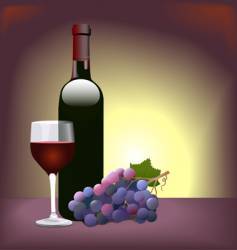 Red wine scene vector