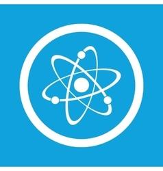 Atom sign icon vector