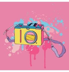 Photo camera hand drawn vector