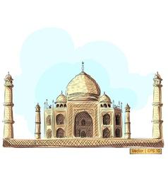 The taj mahal india vector