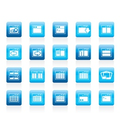 Server and computer icons vector