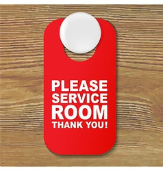 Do not disturb red sign vector